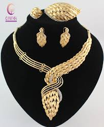 fashion jewelry necklace sets images Online shop new arrival african costume jewelry sets gold color jpg