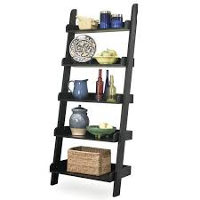 Black Book Shelves by Whitewood Ladder Bookshelf Leaning Bookcase