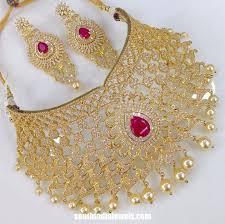 necklace set image images Bridal imitation choker necklace set south india jewels jpg