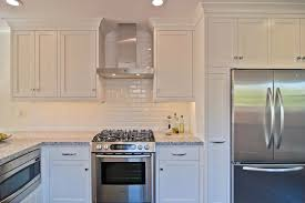 white beveled subway tile kitchen fashionable white beveled