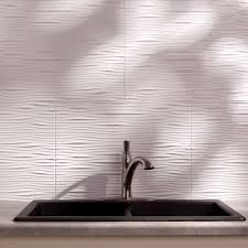 Fasade Waves  X  PVC Backsplash Panel Kit In Gloss - Pvc backsplash