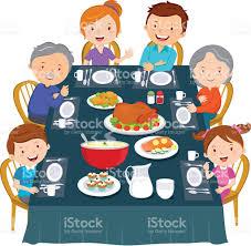thanksgiving dinner family dinner stock vector 507874134 istock