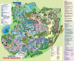 cedar fair parks map newsplusnotes california s great america s 2008 park map