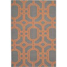 Orange And Blue Area Rugs Orange 4 X 6 Geometric Area Rugs Rugs The Home Depot