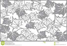autumn pattern with maple leaves template for stock vector