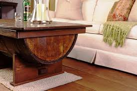 whiskey barrel side table unique designs barrel coffee table room accents jmlfoundation s home