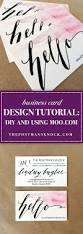business card design tutorial diy and using moo com the