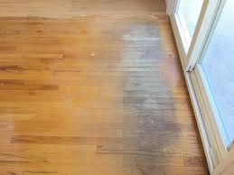 sanding water damage on hardwood floors