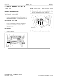 100 03 ford expedition factory repair manual g1014 wiring