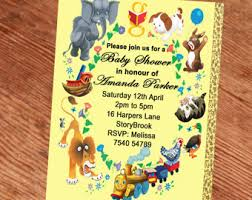 baby shower nursery rhyme storybook invitation book baby