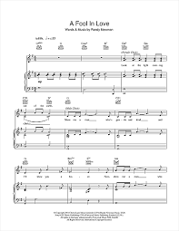 a fool in love a fool in love sheet music by randy newman piano vocal guitar