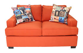 jasmine orange loveseat mor furniture for less
