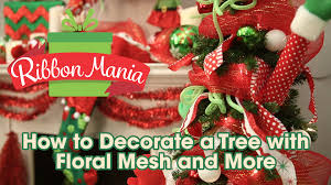 how to decorate a tree with floral mesh and more youtube
