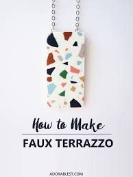 diy u2013 how to make faux terrazzo adorablest