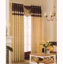 Floral Jacquard Curtains Room Darkening Curtains Country Light Yellow Floral Jacquard