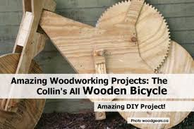 amazing woodworking projects the collin u0027s all wooden bicycle