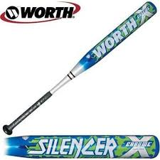worth fastpitch bats new worth alfp2 26 15 5 silencer blue silver fastpitch softball bat