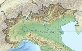 Italy Physical Map by Ripari Villabruna Wikipedia
