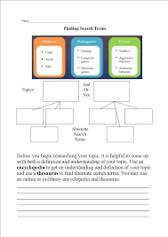 search terms worksheet u2013 welcome