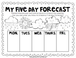 Kindergarten Weather Worksheets A Cupcake For The Whimsical Weather Craftivities