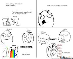 Memes Facebook Chat - facebook group chat expectations and reality by yvezz meme center