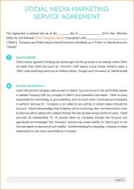 8 social media contract template timeline template