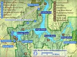 lake mead map overton lake mead information maps directions