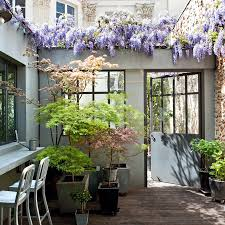 idee amenagement jardin devant maison aménager un patio toutes nos idées marie claire