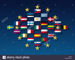 Union Flags European Union Flags In A Diamond Shaped Layout And The Golden