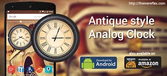 analog clock widgets for android antique style analog clock widget for android and hd