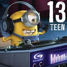 13 teen minions 13th birthday card minion shop