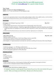fresher resume exles resume sle doc india technology project manager resume sle