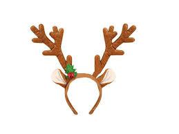 christmas headbands brown festive christmas rudolph reindeer antler w bells fancy