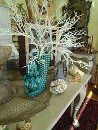 Decorative Vases For Living Room by Decorating White Lighted Branches With Mermaid Vase For Living