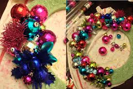 sparkling ornament wreath