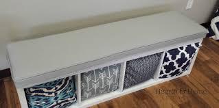 ikea kallax bench amazon com solid cotton cushion in cloud gray cushion to fit ikea