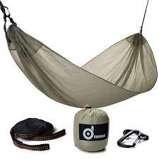 tech ultra light camping hammock odoland single hammock for