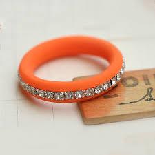 silicone wedding band bague silicone alliance orange