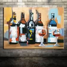 Wine Bottle Home Decor Online Get Cheap Hand Painted Wine Bottles Aliexpress Com