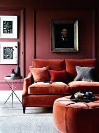 Living Room With Orange Sofa Rust Colored Sofa Adrop Me