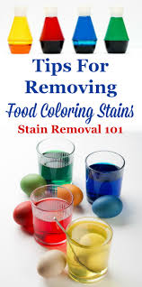 how to get red and blue food coloring out of carpet coloring