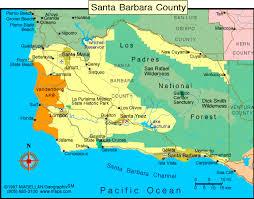 santa barbara california map county of santa barbara