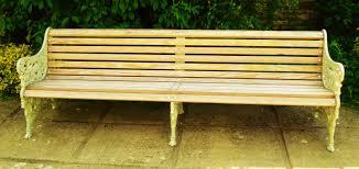 monumental c19th cast iron garden bench seat c 1870 scotland