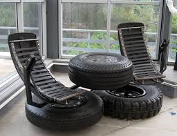 Upcycling Furniture - recycled tires modern furniture recycled things