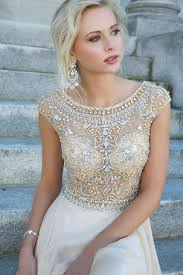 loving dresses white prom dress with gems on the hunt