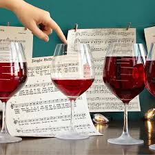 Unusual Wine Glasses major scale musical wine glasses set of 2 etched red wine