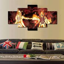 canvas painting for home decoration naruto fire wall canvas 5 pcs