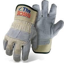 Split Cowhide Boss 1jl5467k M The Quality Split Cowhide Leather Palm Glove Medium