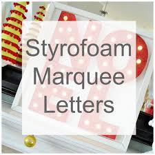 diy styrofoam marquee letters u2013 home and garden
