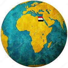 Egypt On World Map Egypt Flag On Globe Map U2014 Stock Photo Michal812 4842422